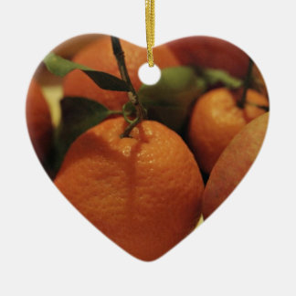 Oranges apples fruit on a table ornaments