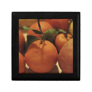 Oranges apples fruit on a table keepsake box