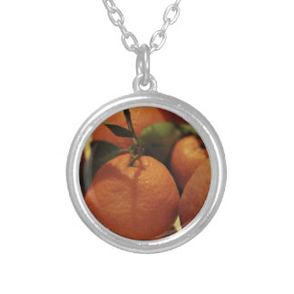 Oranges apples fruit on a table custom necklace