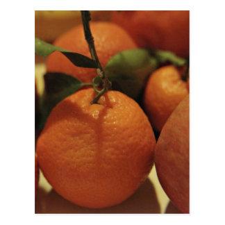 Oranges apples fruit on a table postcards