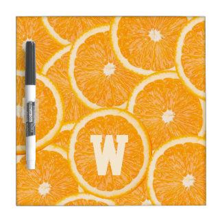Oranges custom monogram message board