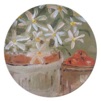 Oranges & Daisies Plate