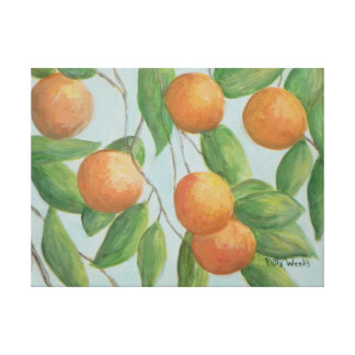 ORANGES FROM FLORIDA Wrapped Canvas Canvas Print