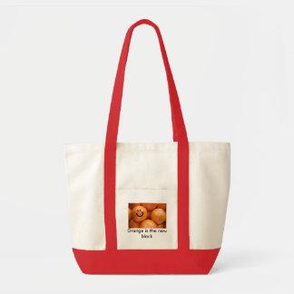 oranges, Orange is the new black Impulse Tote Bag