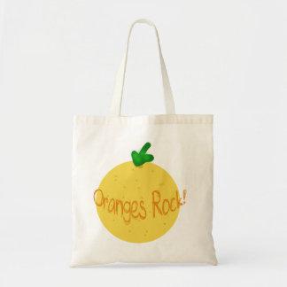 Oranges Rock! Tote Bag. Budget Tote Bag