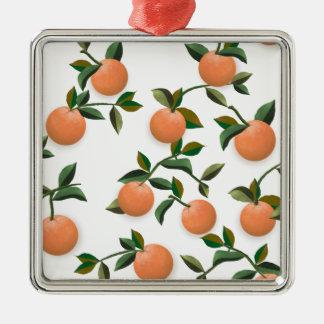 Oranges Vintage Wallpaper Christmas Ornament