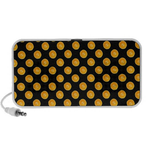 Oranges with black background iPhone speaker