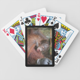 Orangutan Mother, New Baby in Forest Playing Cards