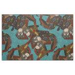 orangutans blue fabric