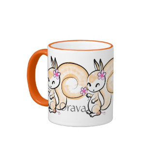 Orava -- Cute Finnish Squirrel Coffee Mugs