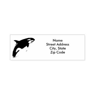 Orca Address Stamp, Self-inking Stamp