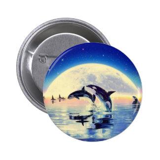 Orca Killer Whale 6 Cm Round Badge