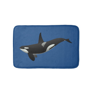 Orca Killer Whale Bath Mat Bath Mats