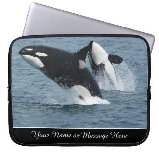 Orca Killer Whales Breaching Personalised Laptop Sleeve