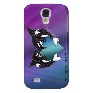 Orca Love Northern Lights Galaxy S4 Case