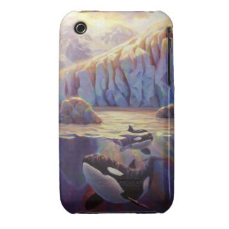 Orca Sunrise - Whales and Glaciers Case-Mate iPhone 3 Cases