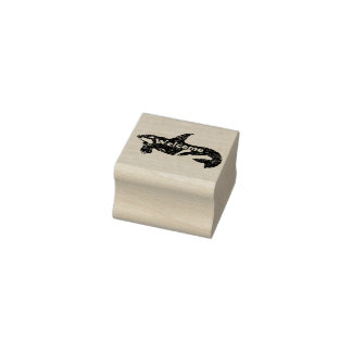 Orca Welcome Rubber Stamp
