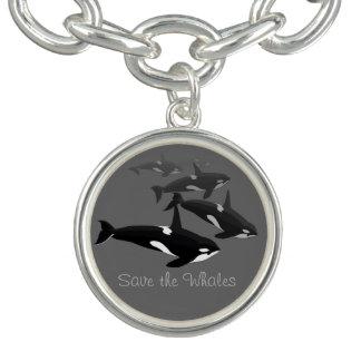 Orca Whale Bracelet Killer Whale Art Jewelry