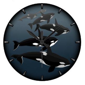 Orca Whale Clock Killer Whale Decor Whale Gifts