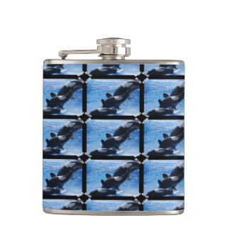 Orca Whale Hip Flask