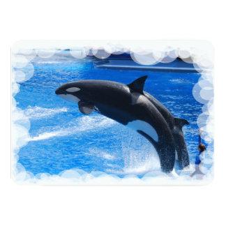 Orca Whale 5x7 Paper Invitation Card