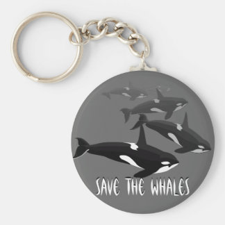 Orca Whale Keychain Personalized Whale Art Gifts