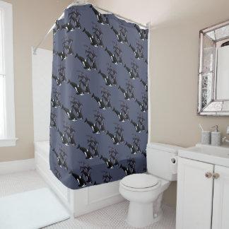Orca Whale Shower Curtains Whale Art Bath Decor Shower Curtain