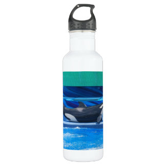 Orca Whale Showing Off 24oz Water Bottle