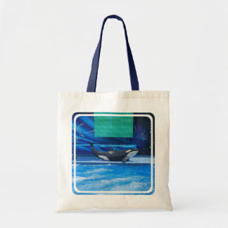 Orca Whale Showing Off Budget Tote Bag