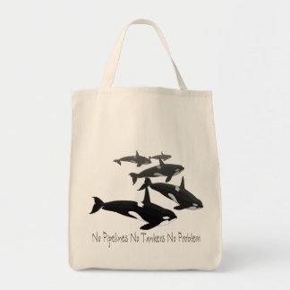Orca Whale Tote Bag Eco-Friendly Killer Whale Bag