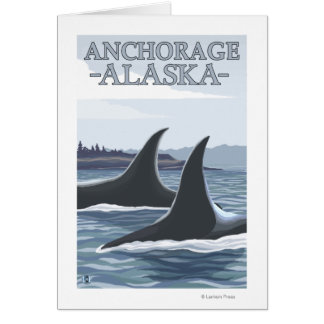 Orca Whales #1 - Anchorage, Alaska Greeting Card