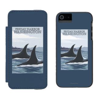 Orca Whales #1 - Friday Harbor, Washington Incipio Watson™ iPhone 5 Wallet Case
