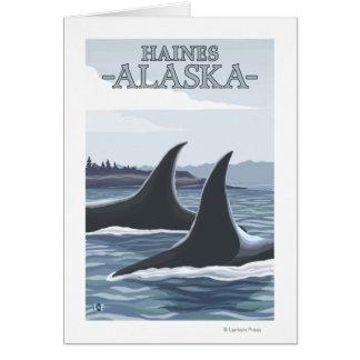 Orca Whales #1 - Haines, Alaska Greeting Card