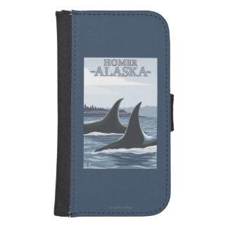 Orca Whales #1 - Homer, Alaska Phone Wallets