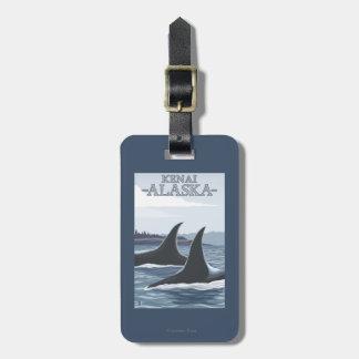 Orca Whales #1 - Kenai, Alaska Luggage Tag