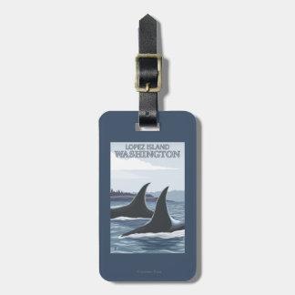 Orca Whales #1 - Lopez, Washington Luggage Tag