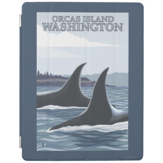 Orca Whales #1 - Orcas Island, Washington iPad Cover
