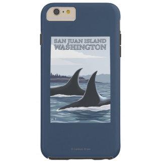 Orca Whales #1 - San Juan Island, Washington Tough iPhone 6 Plus Case