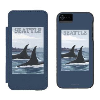 Orca Whales #1 - Seattle, Washington Incipio Watson™ iPhone 5 Wallet Case