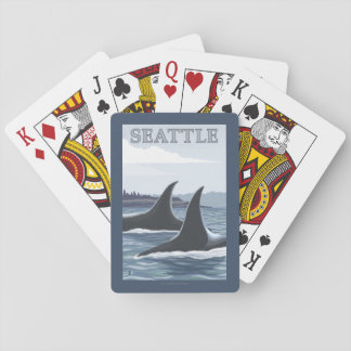 Orca Whales #1 - Seattle, Washington Playing Cards