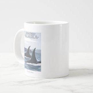 Orca Whales #1 - Skagway, Alaska Large Coffee Mug
