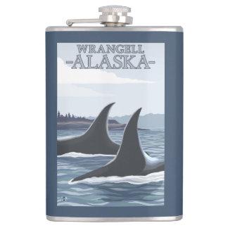 Orca Whales #1 - Wrangell, Alaska Flask