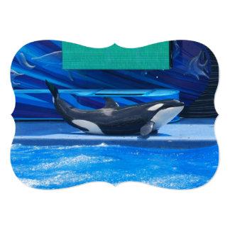 "Orca Whales 5"" X 7"" Invitation Card"