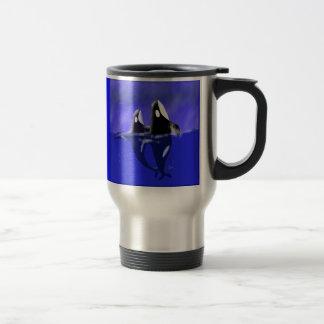 Orca Whales Spy Hopping Travel Mug