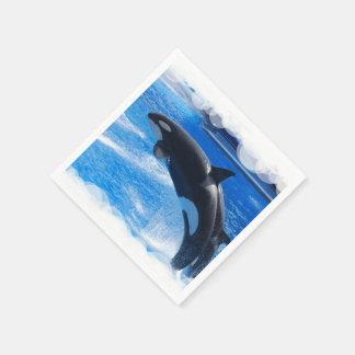 Orca Whales Disposable Napkins