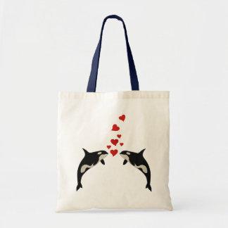 Orcas In Love Tote Bag