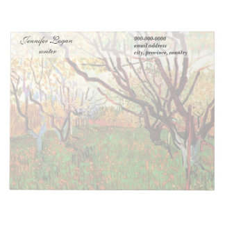 Orchard in Blossom by Van Gogh. Notepad