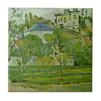 Orchard in Pontoise by Paul Cezanne Tile