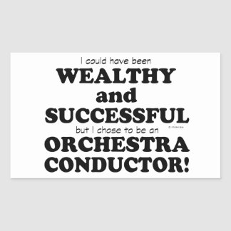 Orchestra Conductor Wealthy & Successful Stickers