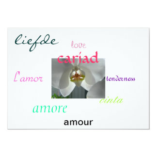 orchid, amour, love, tenderness, amore, car... card